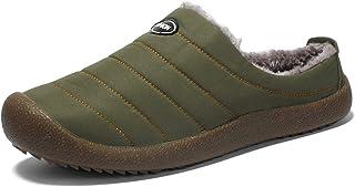 XSWL Bottes de Neige pour Hommes Femmes, Hiver Fourrure Doublée Antidérapant Chaussures Coton Plus Velours Garder Chaud Ch...