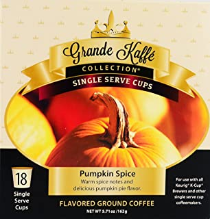 Pumpkin Spice Grande Kaffe Collection Coffee K-Cups 18 Count 18 K-Cups in Total
