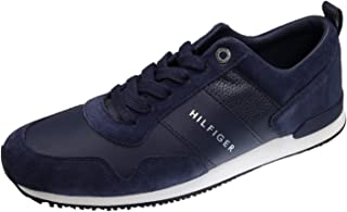 Tommy Hilfiger Herren Iconic Leather Suede Mix Runner Sneaker