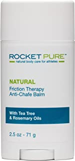 "Rocket Pure Natural Anti-Chafe Balm ""No-Mess Stick"" Glide Protection, 2.5 oz (71 g)"