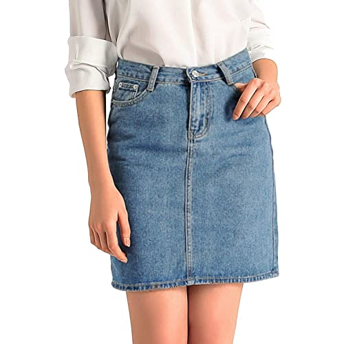 eb2568f633 AMORETU Womens Classic Bodycon Denim Jeans Skirt