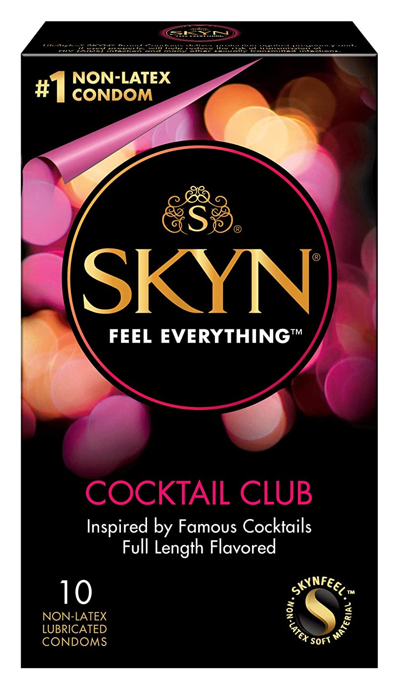 Lifestyles Skyn Cocktail Club Premium Flavored Condoms, 10 Count