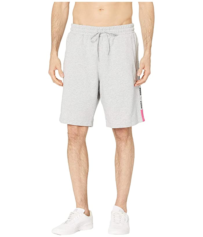 PUMA XTG Shorts 8 (Light Grey Heather) Men