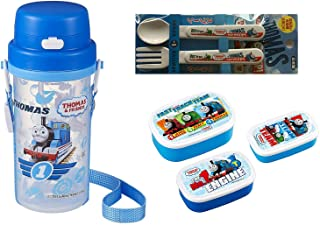 Thomas the Tank Engine Lunch Set - 3 Lunch (Bento) Boxes, Bottle with Handles, Spoon and Fork (Japan Import)