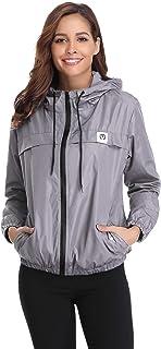 Abollria Raincoats Waterproof Lightweight Rain Jacket Women's Trench Coats