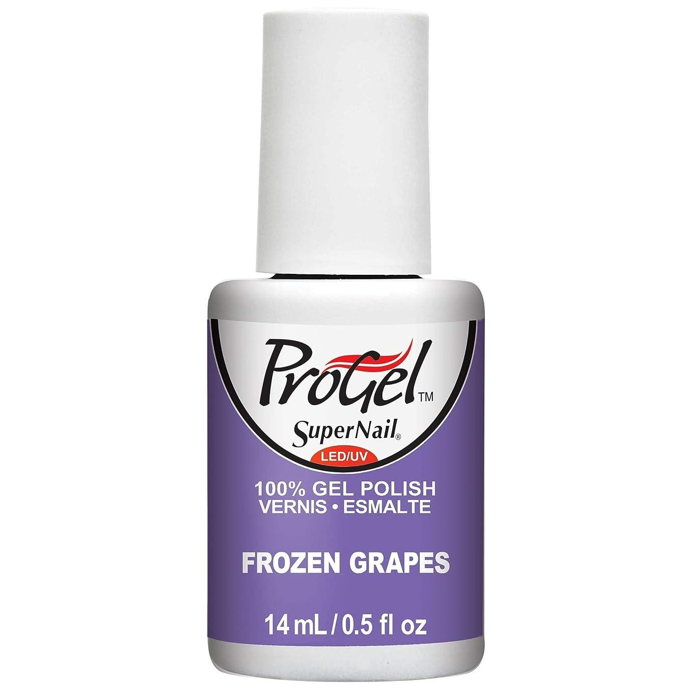 ミニチュアハドル迫害するSuperNail ProGel Gel Polish - Frozen Grapes - 0.5oz / 14ml