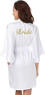 Personalized Bridal Party Robes for Bridesmaid Bride Short Satin Bathrobe