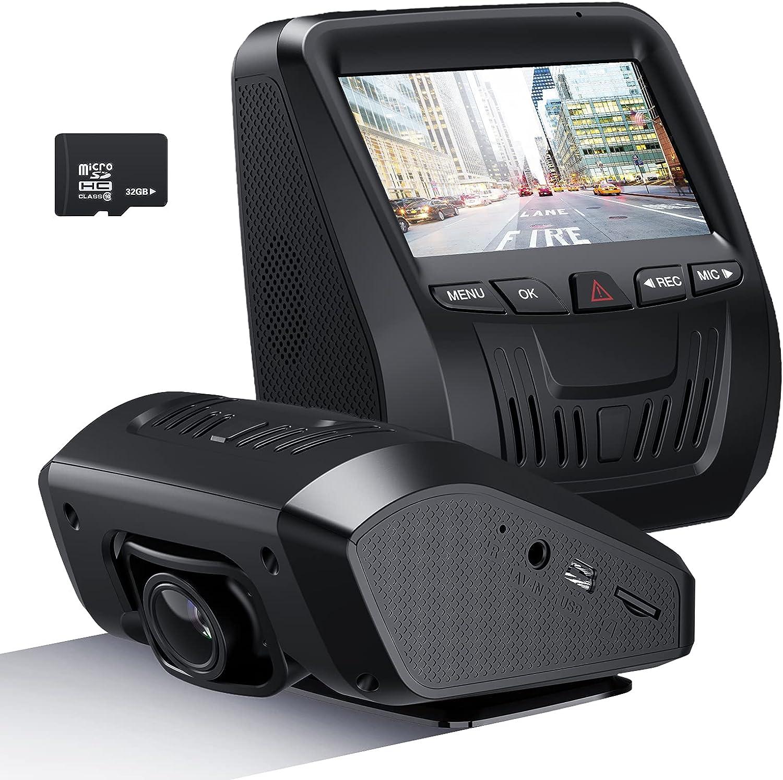 NEZINI Car Dash Cam, Dashboard Camera Recorder with 32GB SD Card, FHD 1080P, 3