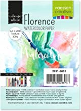 VARTA Vaessen Creative Florence Watercolour Paper A6, 300 GSM, Artist Grade Quality, Textured Surface, 100 Sheets for Pain...