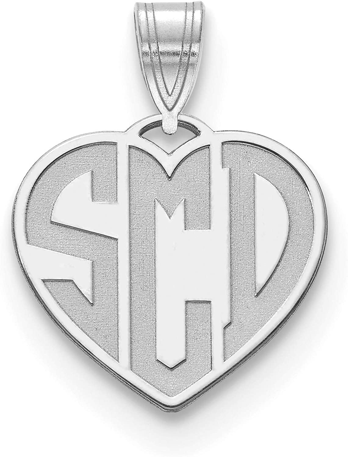 Brilliant specialty shop Bijou Etched Heart Monogram Pendant - Personalized Med Max 43% OFF