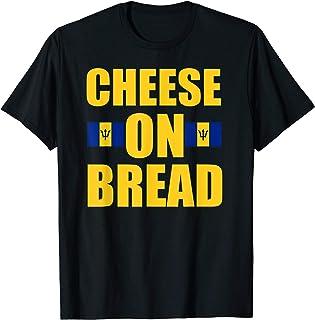 Barbados Barbadian Flag Shirt Cheese On Bread Funny T-Shirt
