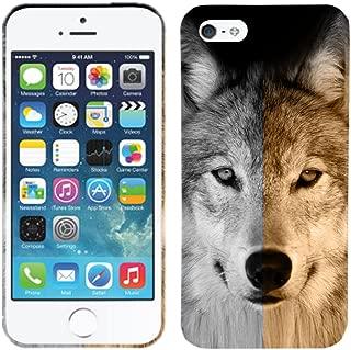 Glisten - Designer Hard Plastic Case for iPhone SE / 5 / 5S - Wolf Face Hard Plastic Back Cover. Slim Profile Cute Printed Designer Snap on Case by Glisten