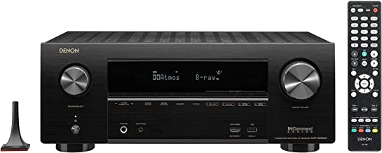 Denon AVR-X2600H 4K UHD AV Receiver   2019 Model   7.2 Channel, 95W Each   New Dolby Atmos Height Virtualization, Dual Subwoofer Outputs   8 HDMI Inputs, 2 Outputs with eARC   AirPlay 2, Alexa & HEOS