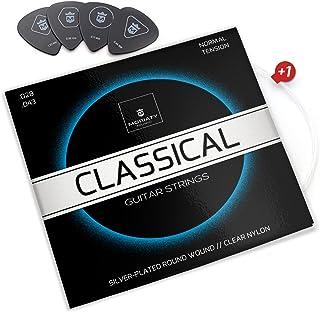 Moriaty® gitaarsnaren concertgitaar - Premium nylon snaren voor klassieke gitaar, akoestische gitaar (7 snarenset)   INCLU...