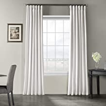 Half Price Drapes PDCH-KBS1-108 Vintage Textured Faux Dupioni Silk Curtain, 50 x 108, Ice