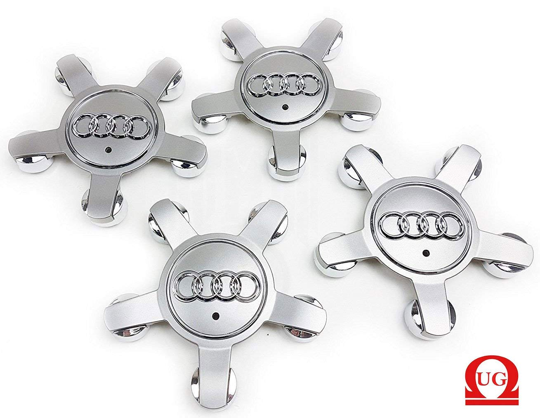 Ug 4 x Tapacubos Tapones Repuesto de 134 mm Estilo Araña 5 puntas para Audi Color Gris Mod. 8r0601165 – para tachuelas Círculos Aleación – A3 A4 A5 A6 A8: Amazon.es: Coche y moto