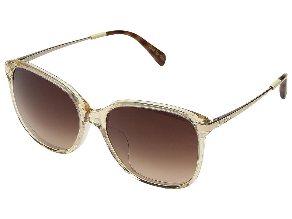 Retro Sunglasses | Vintage Glasses | New Vintage Eyeglasses TOMS Sandela 201 Champagne Crystal Fashion Sunglasses $139.00 AT vintagedancer.com