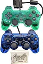 Wired Controller for PS2 Playstation 2 Dual Shock(Pack of 2,ClearBlue and CLearGreen)