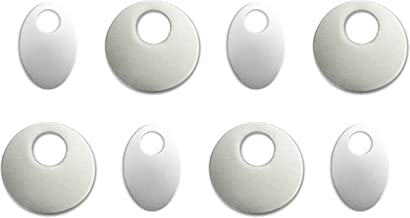 Eight (8) ImpressArt Alkeme Stamping Blanks. 4 Offset Washers & 4 Oval Washers- Soft Strike, 18 guage Metal. Made in USA-1 1/4
