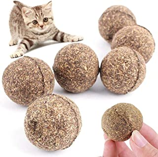 Lovlifer Natural Funny Catnip Treating Ball,Catnip Ball Toy Cat Mint Ball Natural Catnip Teeth Cleaning Playing Chew Claw ...