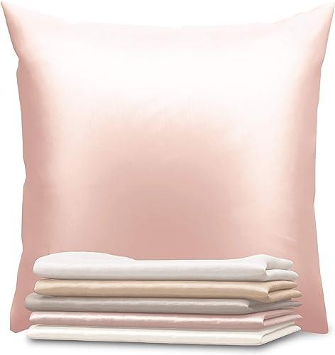 Dreamzie - Taie d'oreiller en Soie 60 x 60 cm - 100% Soie 19 Mommes Certifiée Oeko-TEX® - Bienfaits Cheveux et Peau -...