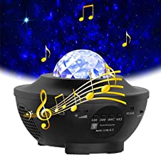 $35 » Star Projector Night Light LED Color Light Show Projector Starry Night Light Projector for Kids Adults Bedroom with Nature...
