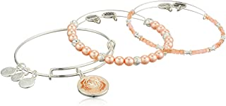 Alex and Ani Womens Art Infusion Rose Bracelet Set of 3