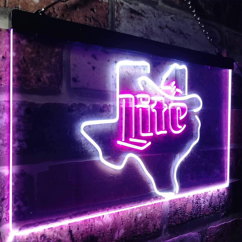 Zusme Zusme Zusme Miller Lite Cowboys Hat Texas Novelty LED Neon