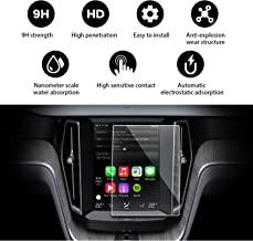 YEE PIN 2018 2019 Volvo XC60 Sensus 8.7 Inch Clear Tempered Glass,Display in-Dash Center Anti-Explosion Scratch Resistance Easy to Clean & Strong Hydrophobic Screen Protector