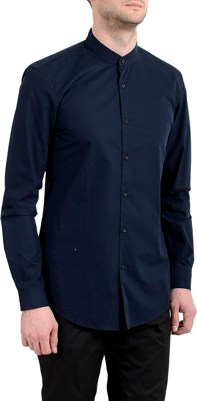 Hugo Boss Men's Klaudio Slim Fit Easy Iron Blue Dress Shirt US 15.75 IT 40