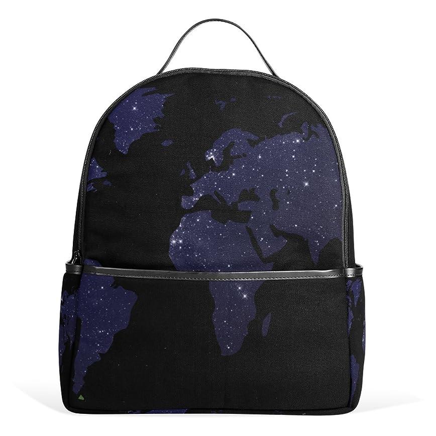 英語の授業があります定期的に達成マキク(MAKIKU) リュック レディース おしゃれ リュックサック 軽量 大容量 通学 高校生 中学生 小学生 旅行 プレゼント対応 世界地図 星空 星柄 ブラック/ホワイト