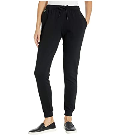 Lacoste Fleece Drawstring Sweatpants (Black) Women