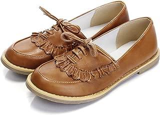 Oxfords Shoes Women Loafers Flats Woman Flat Shoes Soft Casual Shoes Plus Size Orange 4.5
