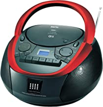 QFX J-71 Portable Top-loading CD/Cassette/MP3 Stereo Player and AM/FM Radio