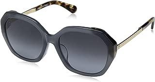 Kate Spade Women's Kaysie/f/s Oval Sunglasses, BLHVN BLU, 56 mm