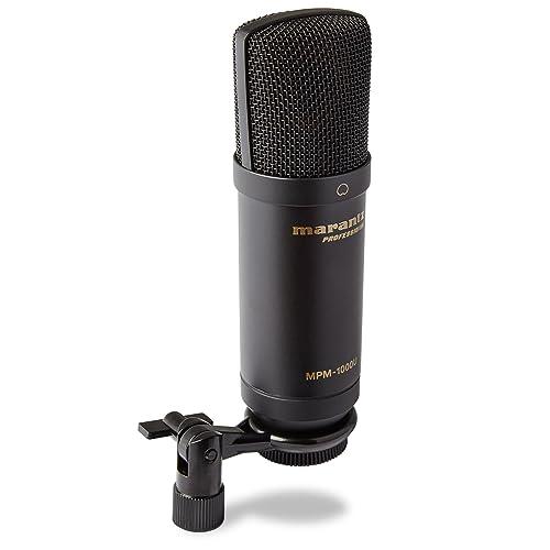Marantz Professional MPM-1000U - Microphone à Condensateur Large Membrane USB pour le Podcast et l'Enregistrement, Câble USB et Clip de Micro Inclus
