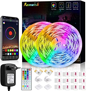 Romwish RGB SMD 5050 Led-strips, bluetooth, voor thuis, keuken, party, tv, decoratie