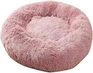 Cama del animal doméstico |Suave felpa larga del gato cama redonda felpa gato cama casa redonda del animal doméstico cama for gatos pequeños Perros Nido de dormir de invierno caliente cama del perrito