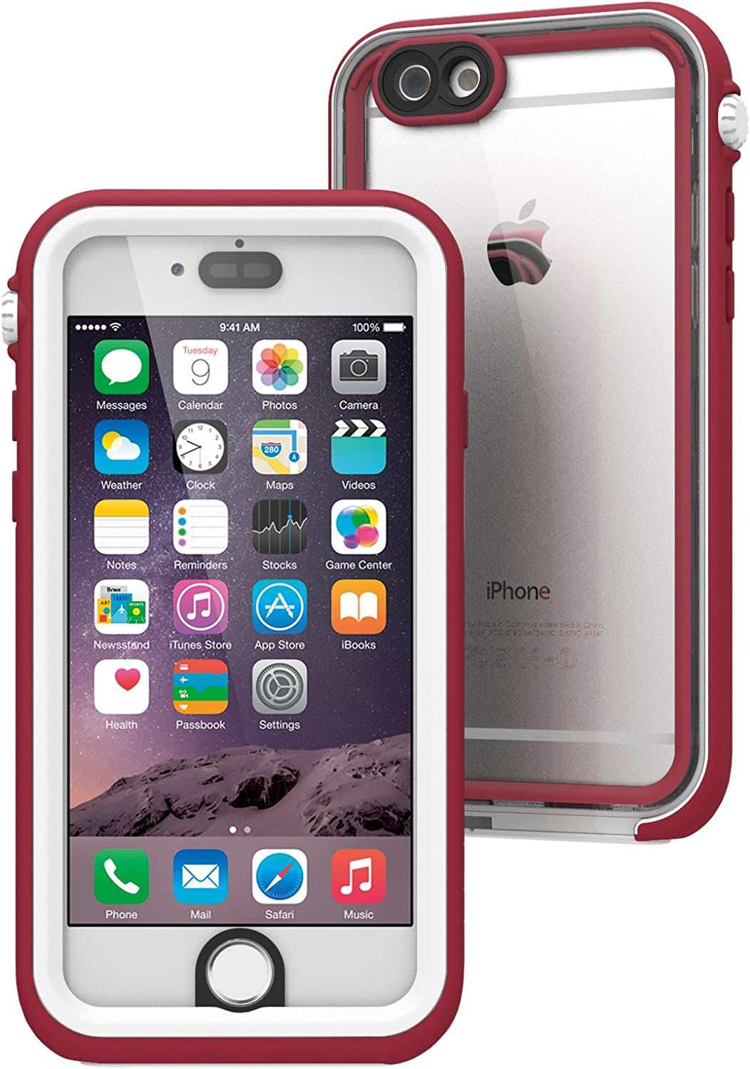 Catalyst Estuche Impermeable para Apple iPhone 6 (Marsala) con Touch ID Muy Sensible