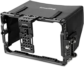 SMALLRIG Monitor Cage with Sunhood for ATOMOS Shogun Inferno, Ninja Inferno, Shogun Flame, Ninja Flame 7 inches Monitors -...