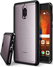 Ringke Fusion Compatible with Huawei Mate 9 Pro Tough PC Back TPU Bumper Drop Protection (Attached Dust Cap) Raised Bezels Protective Cover Huawei Mate 9 Pro Case - Ink Black