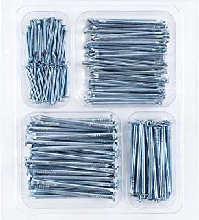 Coceca Hardware Nail Assortment Kit 200pcs, Galvanized Nails, 4 Size Assortment