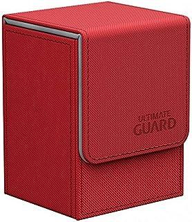 Ultimate Guard Flip Deck Case 80+ XenoSkin Standard Size Red Card Game