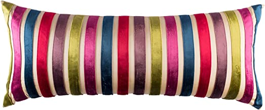 The Pink Champa Long Bolster Lumbar Fancy Rectangle Decorative Accent Throw Pillow Cover for Home Décor, 12X30