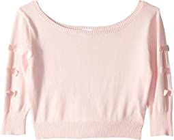 Bow Back Crop Sweater (Toddler/Little Kids/Big Kids)