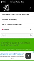 Privacy Policy App #4