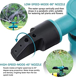 Garden Sprinkler for Yard, Lawn Rotating Sprinklers Adjustable 360 Degree Covering Large Area Up to 3,000 Sq. Ft, for Automatically Watering Irrigation System Leak-Proof, Kids Playtime Outdoor
