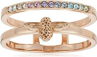 خاتم نحاسي مطلي بالذهب الوردي للنساء من اوليفيا بورتون -OBJAMR26C
