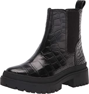 Lucky Brand Women's EMALI Ankle Boot, Black Croco, 5
