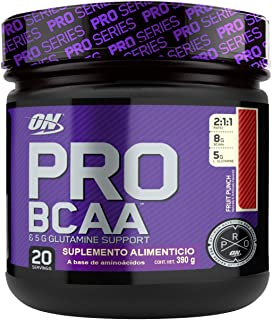 OPTIMUM NUTRITION Pro BCAA with Glutamine, Fruit Punch, Branched Chain Amino Acids Support, 20 Servings (Packaging May Vary)